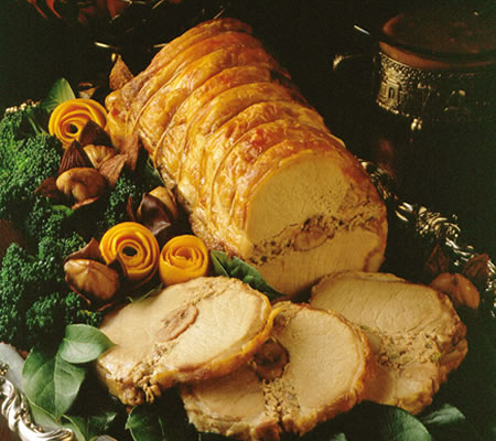 Chestnut-Stuffed Pork Roast